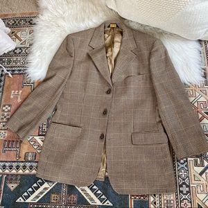 Brooks Brothers Brown Plaid Men's Blazer - 41R